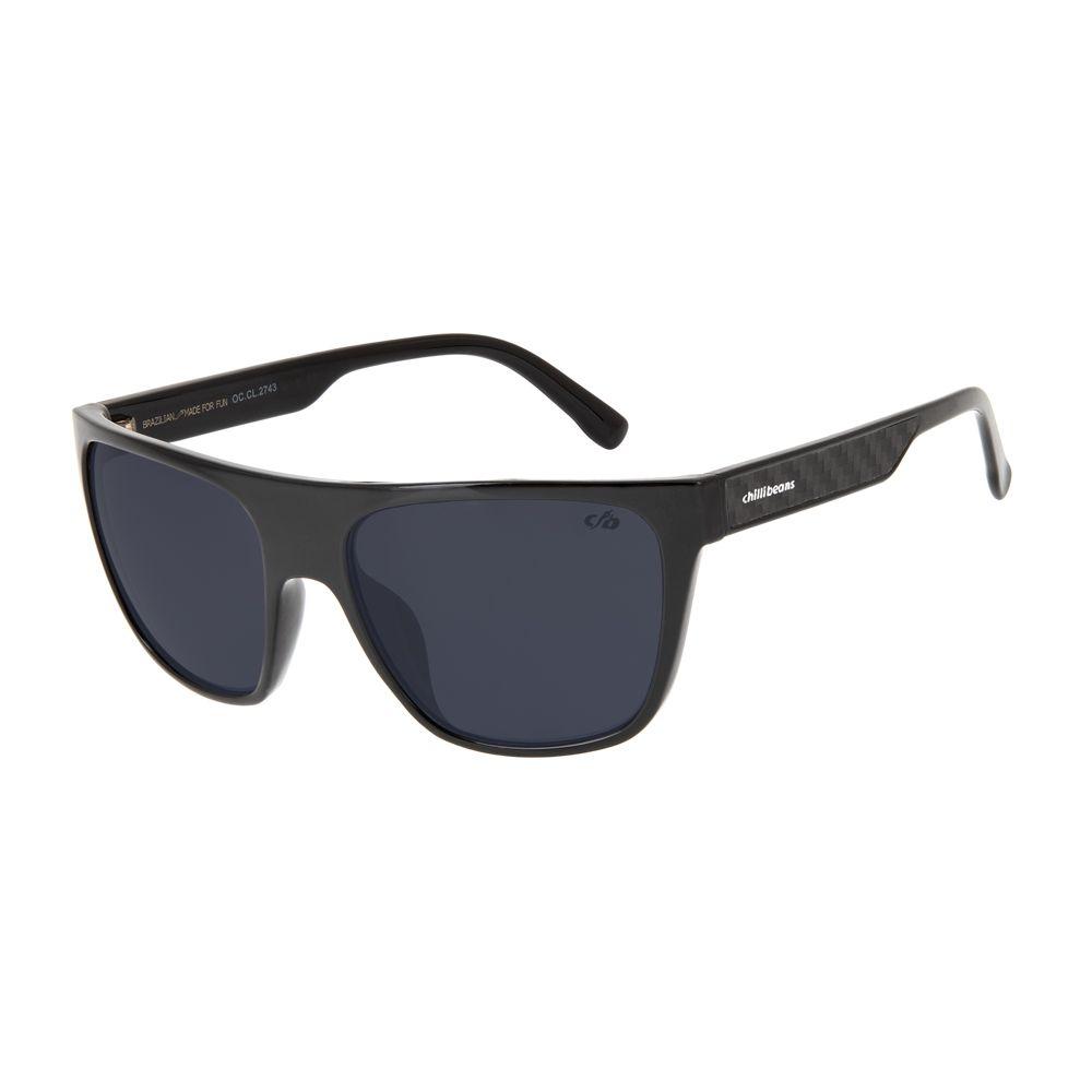 oculos de sol masculino chilli beans blk carbono fume 2743 0501