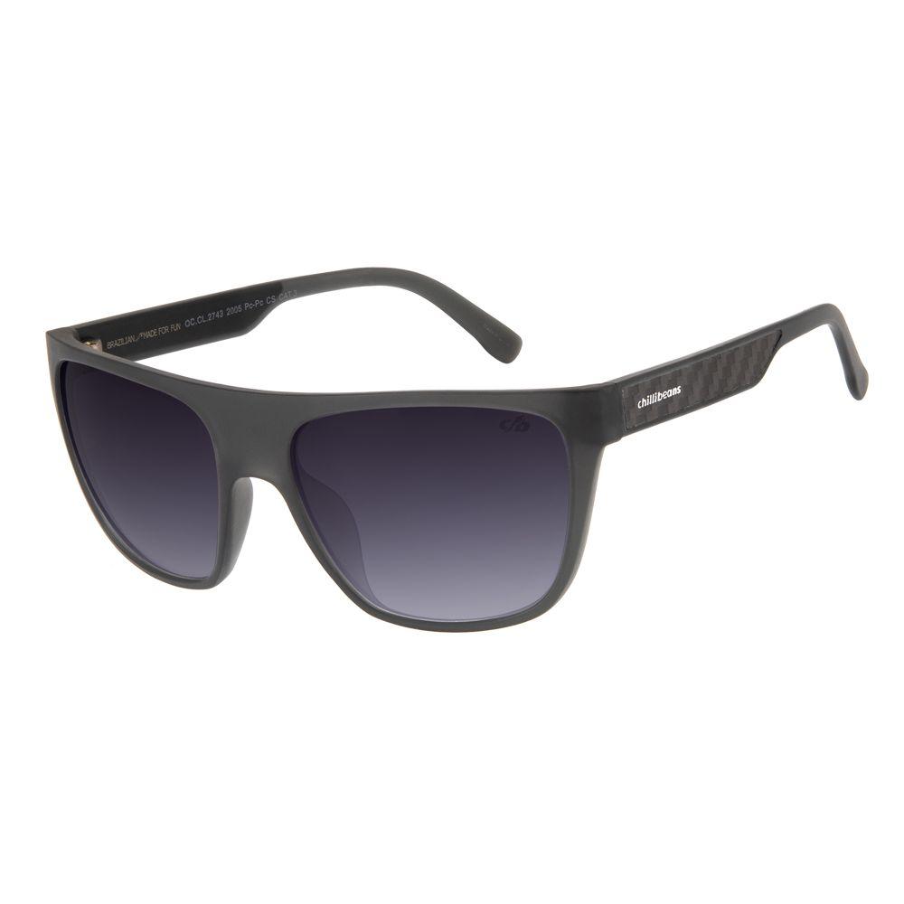 oculos de sol masculino chilli beans blk carbono degrade 2743 2005