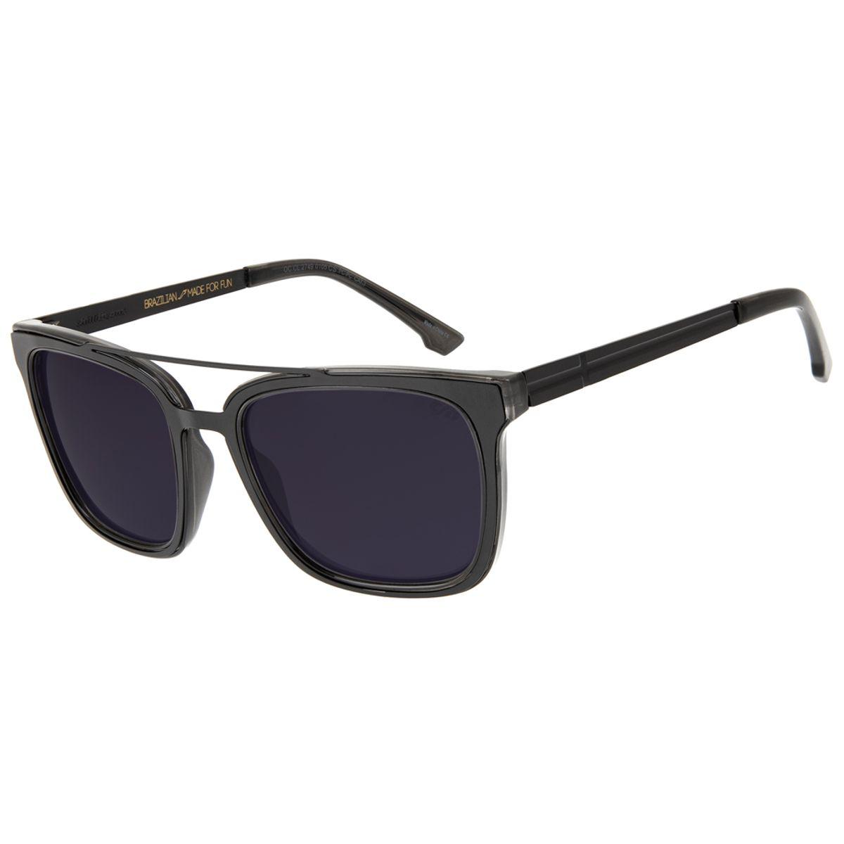 d382d3a7c Óculos de Sol Masculino Chilli Beans Blk L Life Fumê 2749 - Chilli Beans