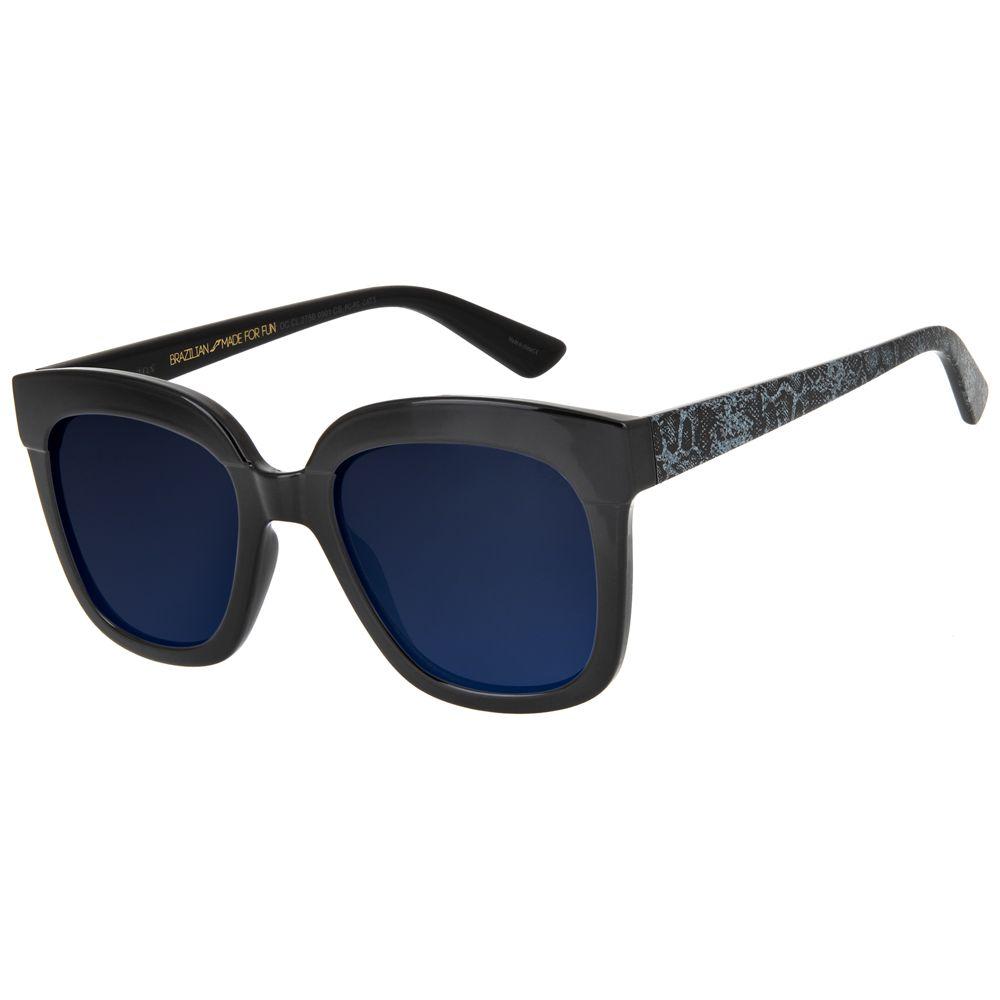maxi oculos de sol feminino chilli beans blk snake preto 2750 0101