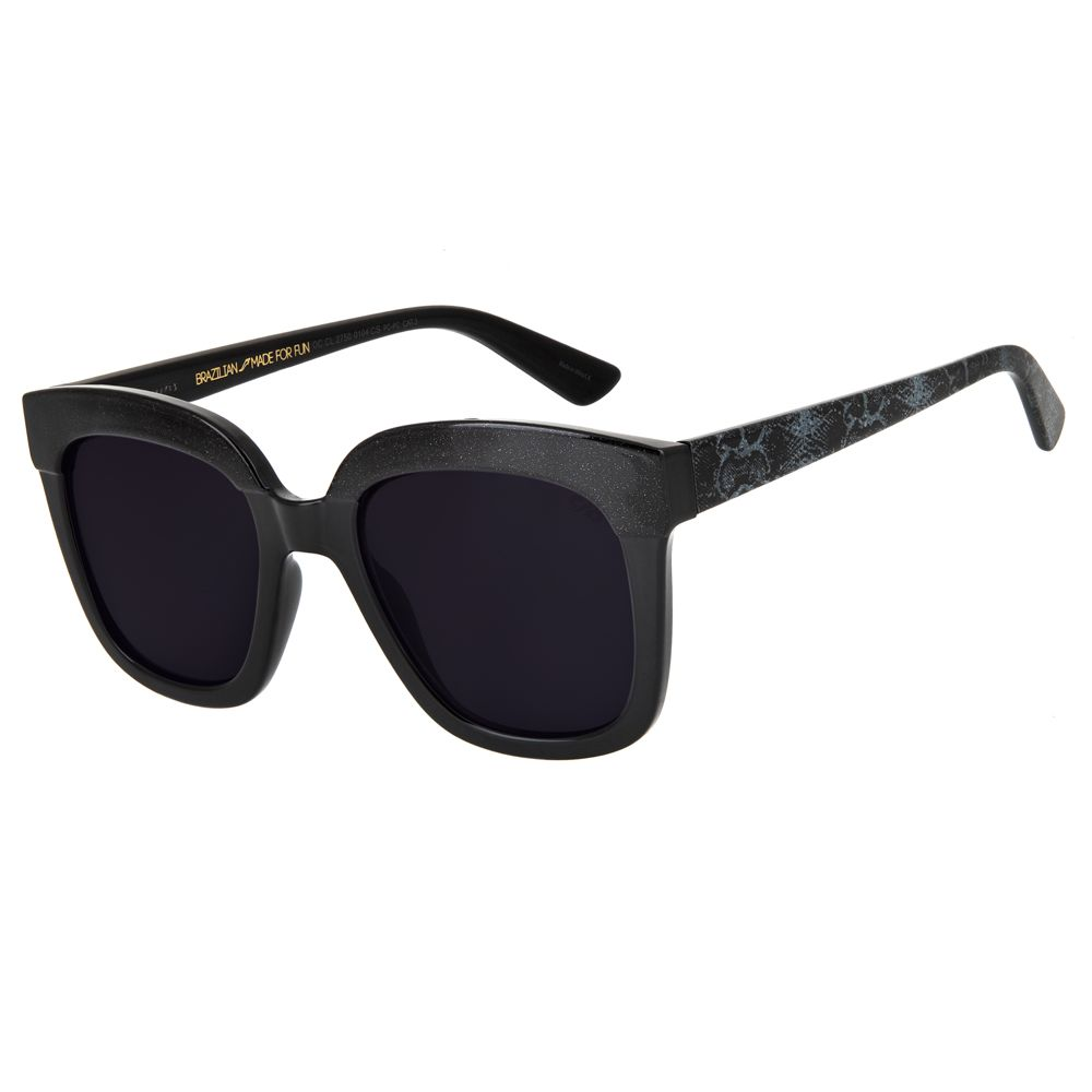 maxi oculos de sol feminino chilli beans blk snake cinza 2750 0104