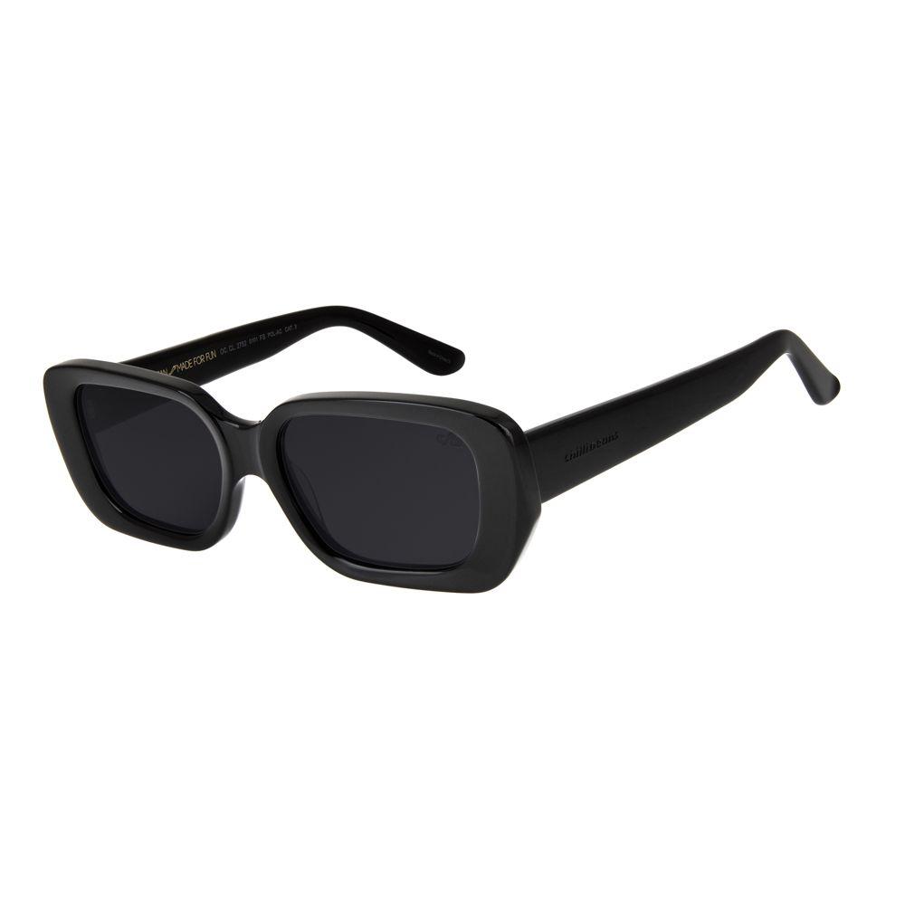 oculos de sol retangular 90´s grunge feminino chilli beans blk preto 2752 0101
