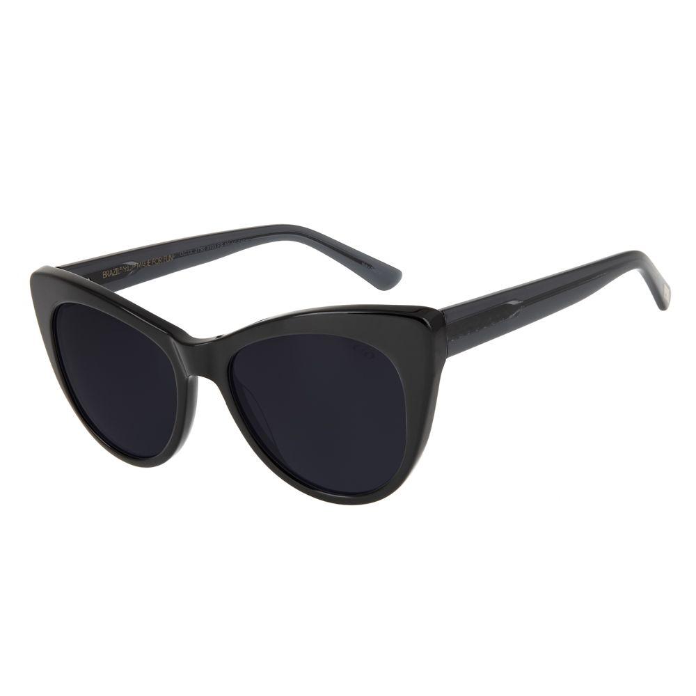 oculos de sol máxi gatinho feminino chilli beans blk preto 2756 0101