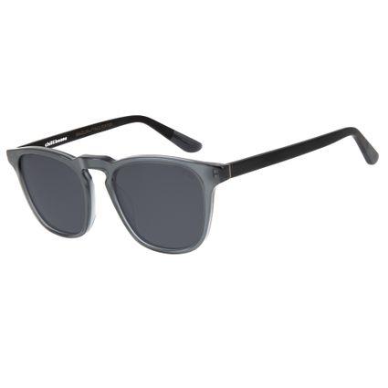 oculos de sol bossa nova unissex chilli beans blk cinza polarizado 2757 0404