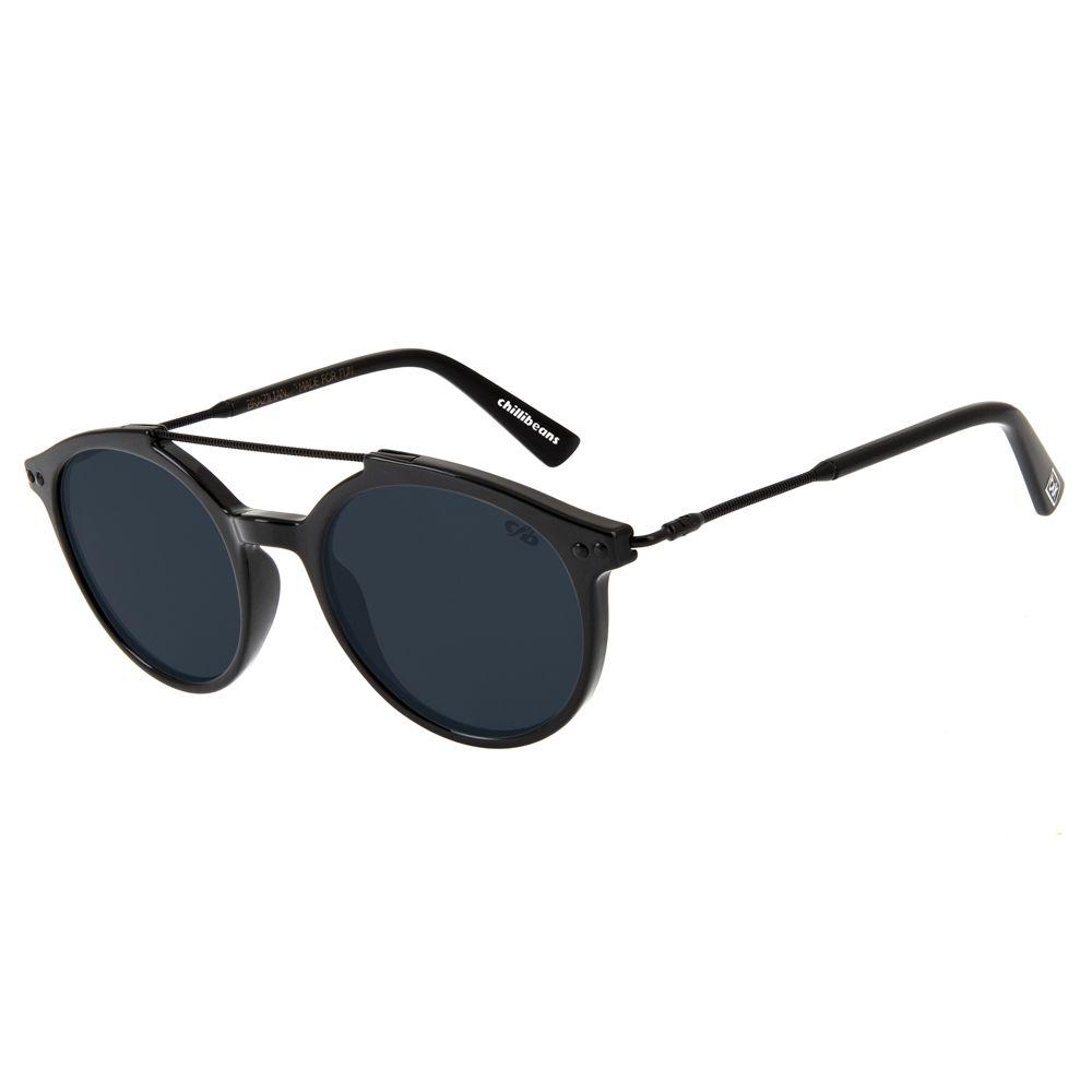oculos de sol redondo unissex chilli beans blk knowledge preto 2758 0101