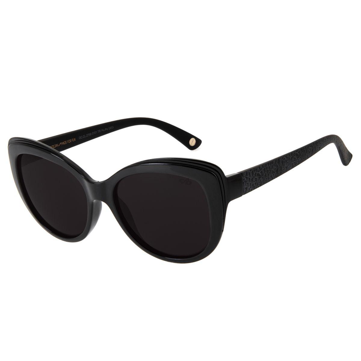 f02a50276 Óculos de Sol Redondo Feminino Chilli Beans Blk Beginning Preto 2759 ...