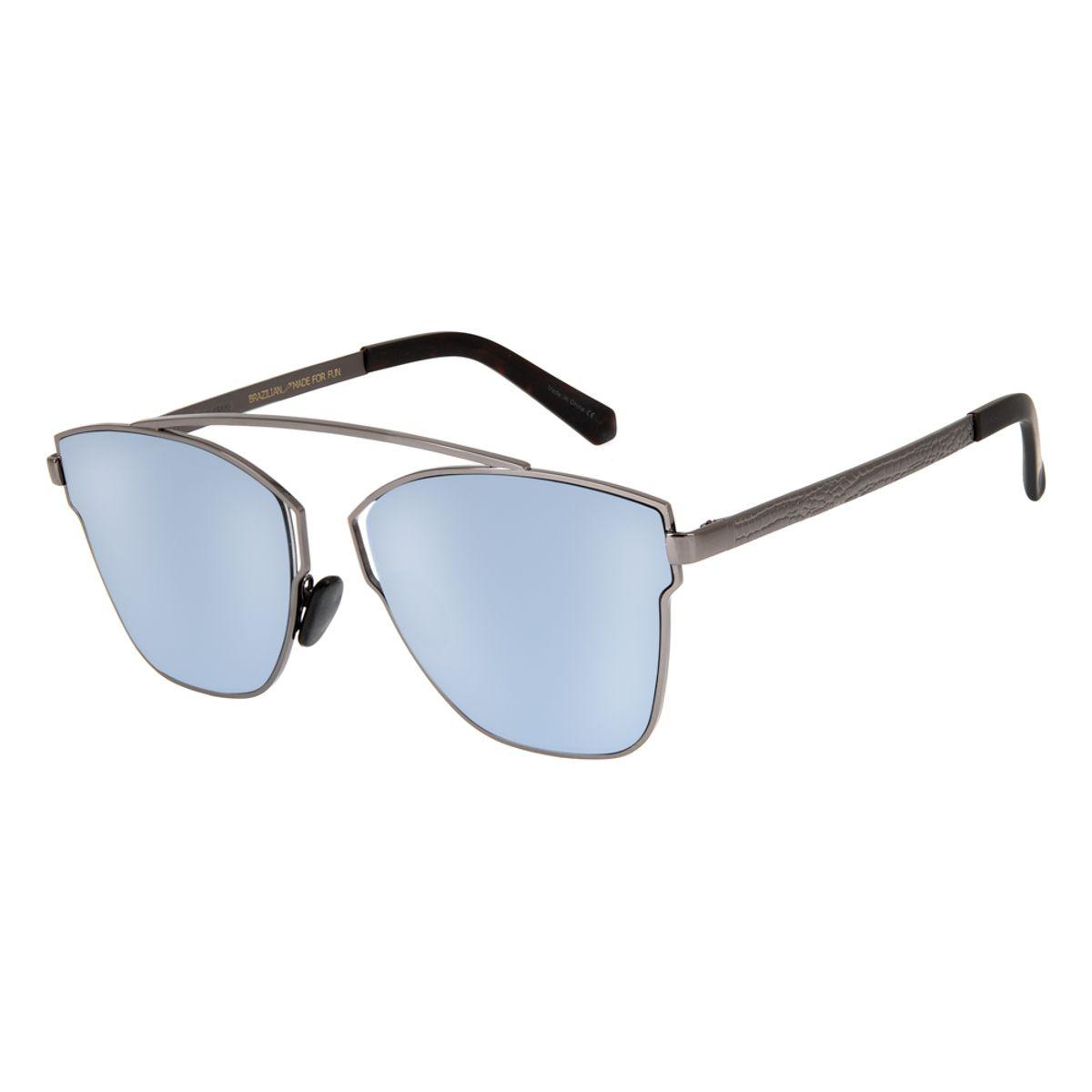 4370c5a00 Óculos de Sol Redondo Feminino Chilli Beans Blk Metal Ônix 2634 ...