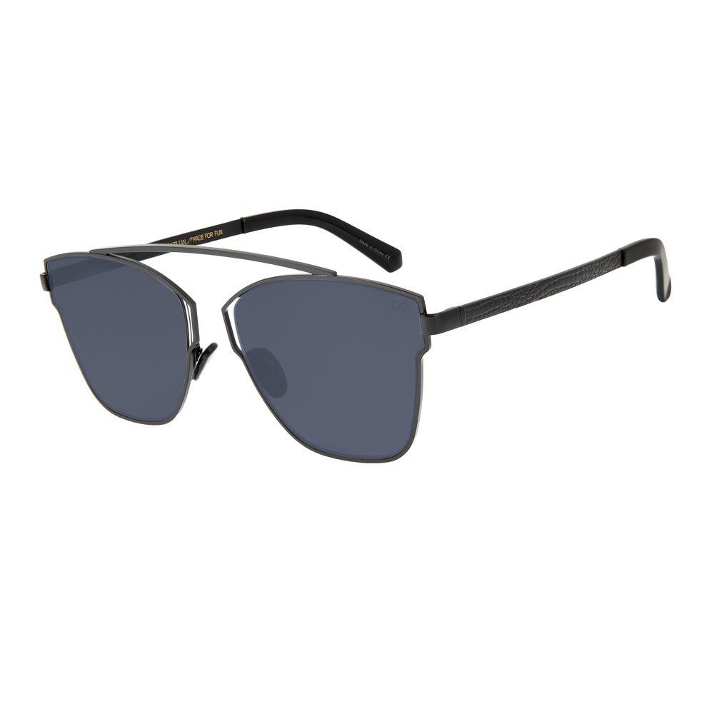 oculos de sol redondo feminino chilli beans blk metal preto 2634 0101