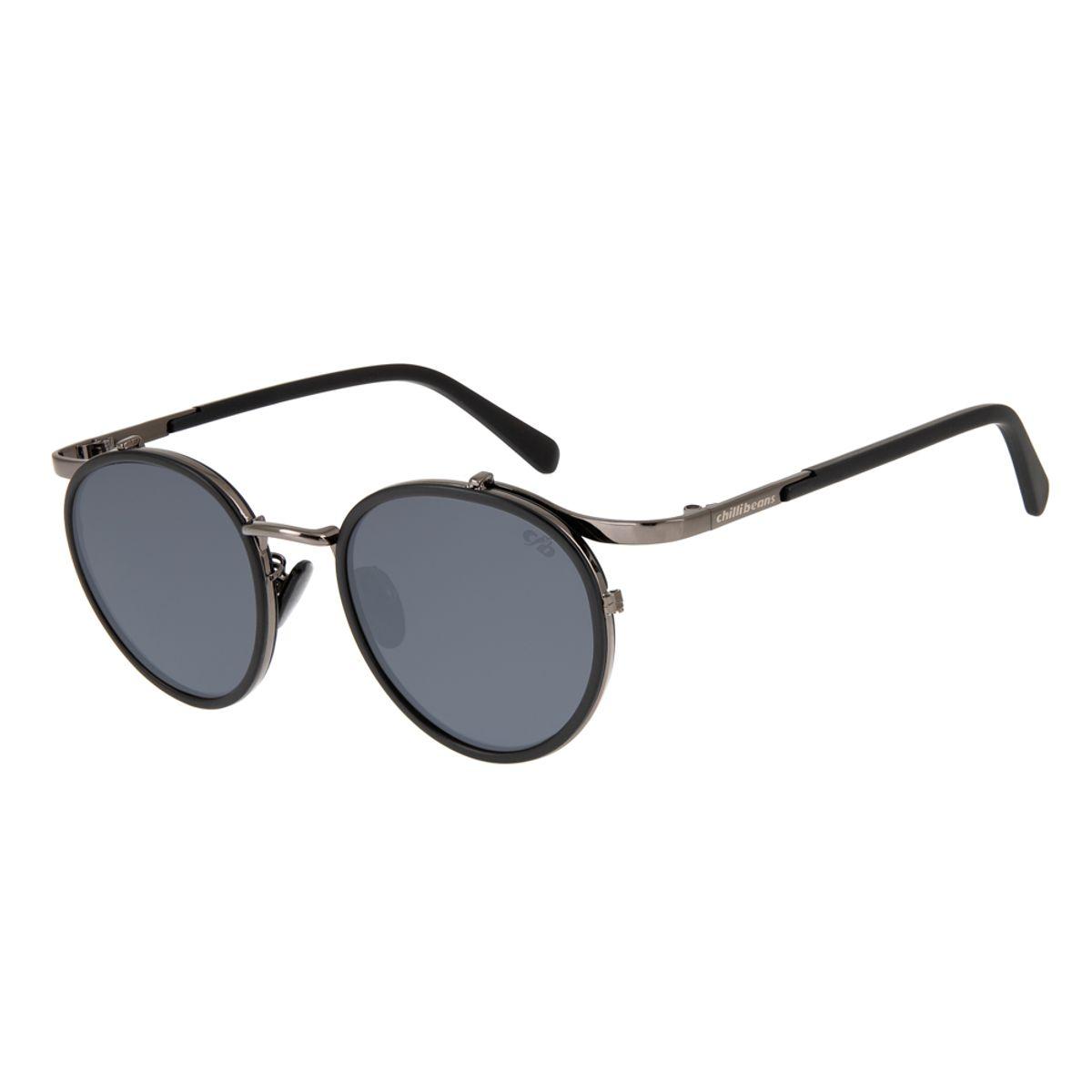 e5c0256f6 oculos de sol redondo unissex chilli beans blk metal onix 2637 0022; OC.