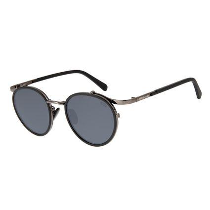 oculos de sol redondo unissex chilli beans blk metal onix 2637 0022