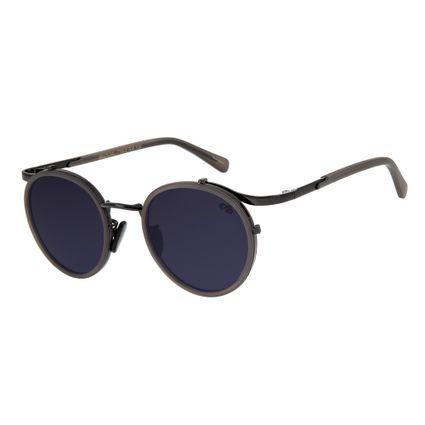 Óculos de Sol Unissex BLK Redondo Metal Preto OC.MT.2637-0101