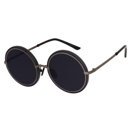 oculos de sol redondo máxi feminino chilli beans blk metal onix 2638 0522