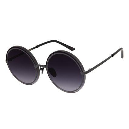Óculos de Sol Feminino Máxi Chilli Beans Blk Metal Degradê OC.MT.2638-2001