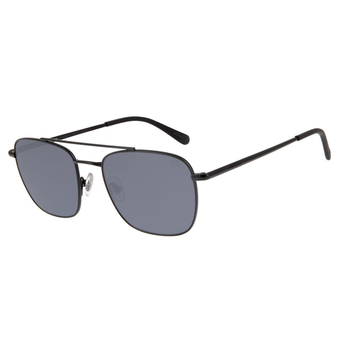194cfc6ab Óculos de Sol Executivo Masculino Chilli Beans Blk Metal Preto 2639 ...