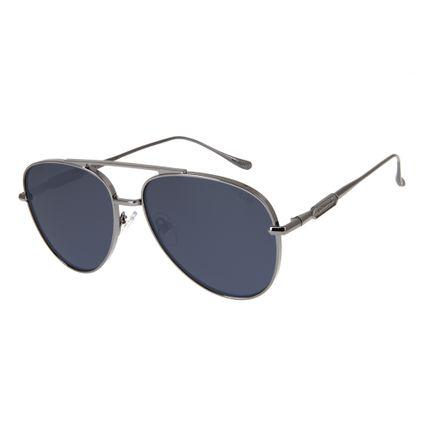 oculos de sol aviador unissex chilli beans blk metal onix 2640 0022