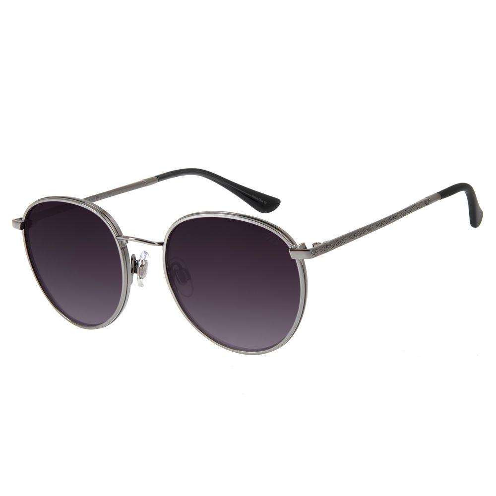 oculos de sol redondo unissex chilli beans blk metal life degrade 2643 2024