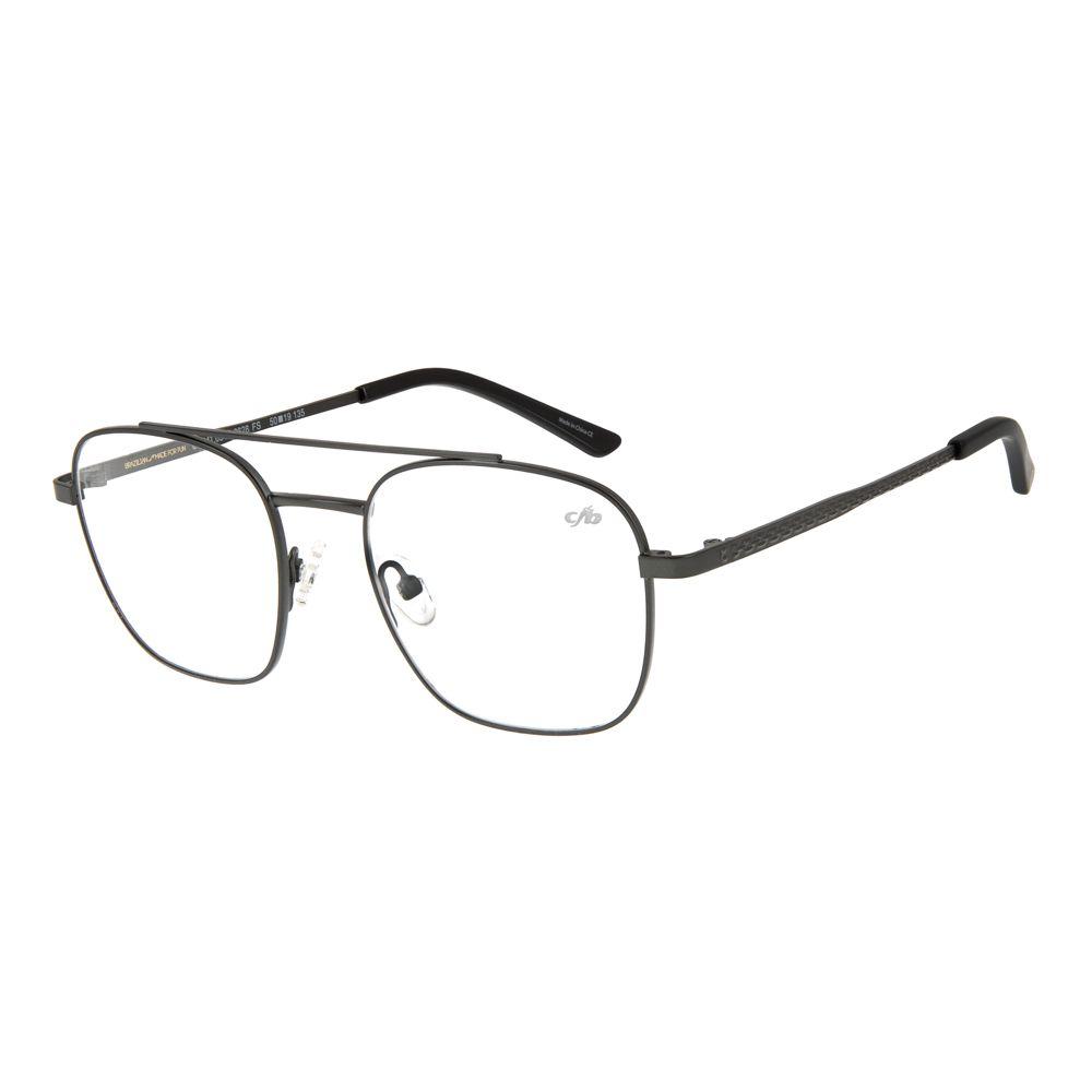 armacao para oculos de grau chilli beans blk metal cinza 0319 2828