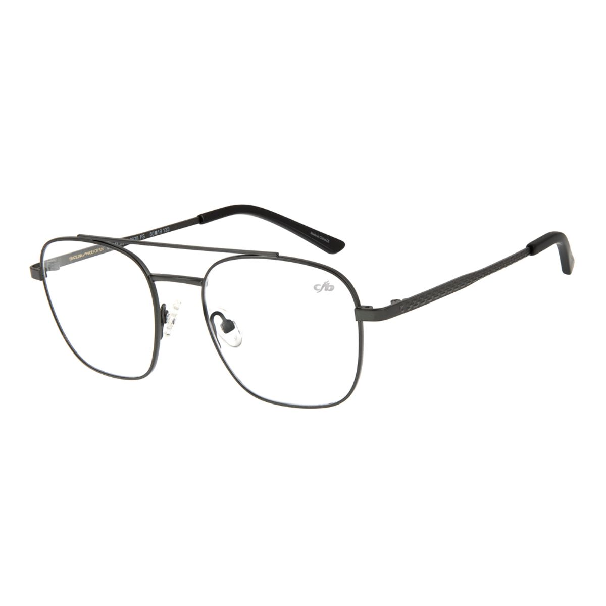 3152bd44d Armação para Óculos de Grau Unissex Chilli Beans Blk Metal Cinza ...