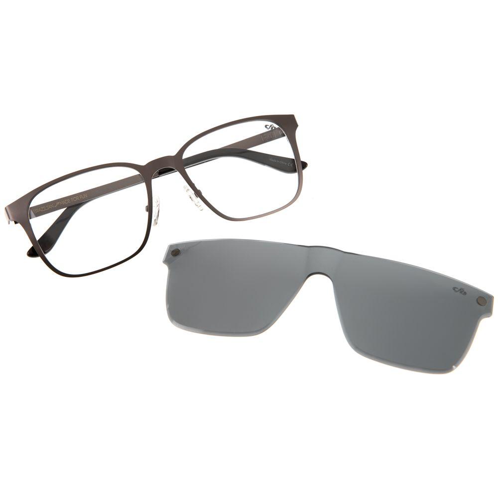 armacao para oculos de grau masculino chilli beans blk multi cinza  0227 0124