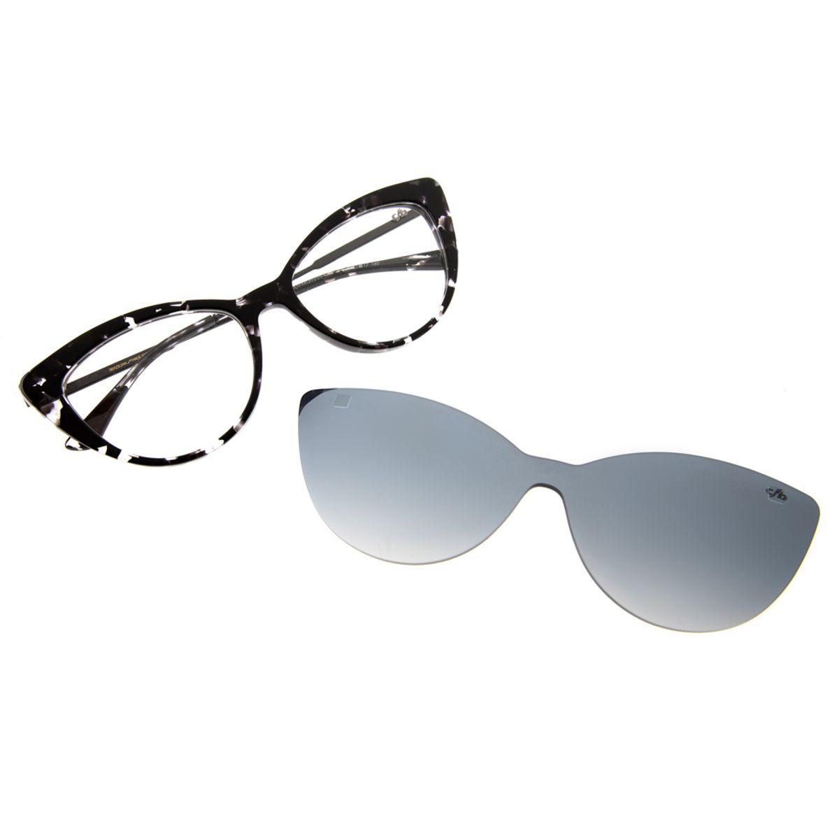 f679fc637 Armação para Óculos de Grau Feminino Gatinho Chilli Beans Blk Multi ...
