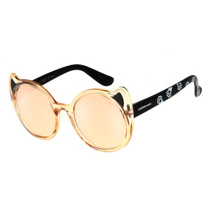oculos de sol chilli beans infantil gato laranja 0591 1136