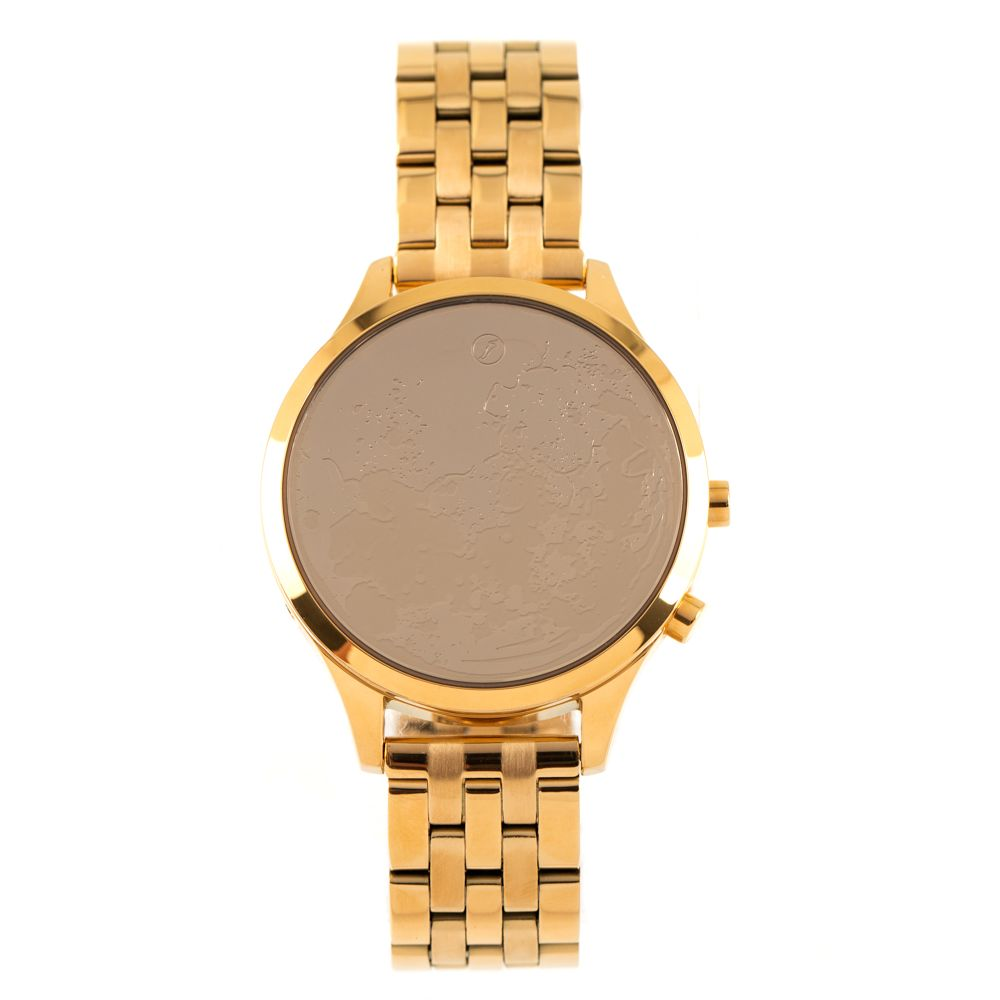 relogio digital chilli beans feminino metal moonlight dourado 0805 2121
