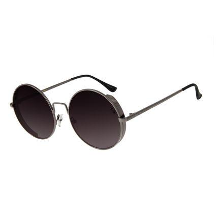 oculos de sol chilli beans unissex redondo metal steampunk onix 2601 2022