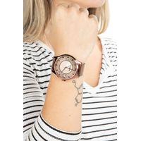 Relógio Analógico Feminino Lady Like Floral Metal Marrom RE.MT.0845-0202.4