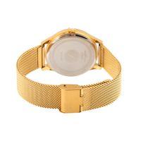 Relógio Analógico Feminino Lady Like Floral Metal Dourado RE.MT.0845-2121.2
