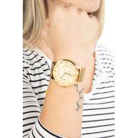 Relógio Analógico Feminino Lady Like Floral Metal Dourado RE.MT.0845-2121.4