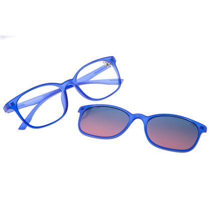 Armação Para Óculos de Grau Chilli Beans Feminino Multi 2 em 1 Polarizado Azul LV.MU.0071-2014