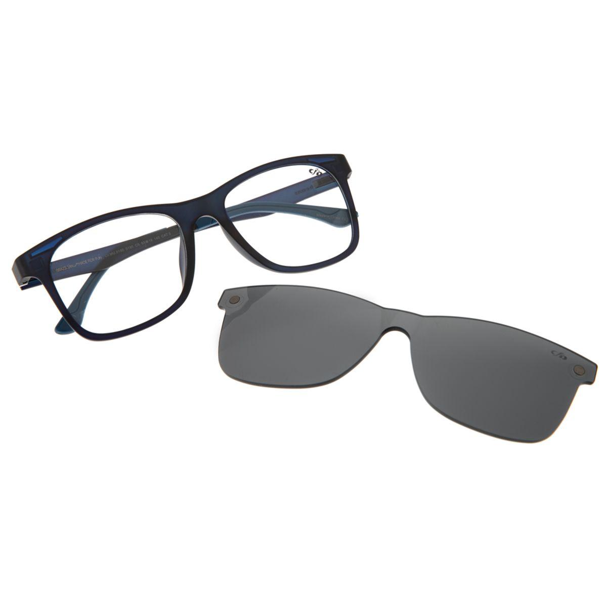 32a5246b7 Armação para Óculos de Grau Chilli Beans Unissex Multi Clip On Azul Escuro  - LV.MU.0180.0190 M. REF: LV.MU.0180.0190. Previous