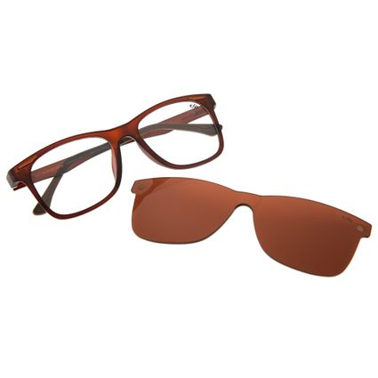 4f3082f27 Armação para Óculos de Grau Chilli Beans Unissex Multi Clip On Marrom R$  359,98 ou 4x de R$ 89,99 Ver detalhes