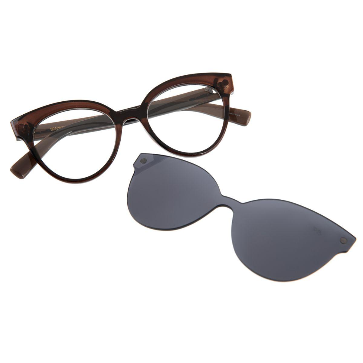 3d0a49664 Armação para Óculos de Grau Chilli Beans Feminino Multi Clip On Gatinho  Marrom - LV.MU.0101.0402 M. REF: LV.MU.0101.0402. Previous