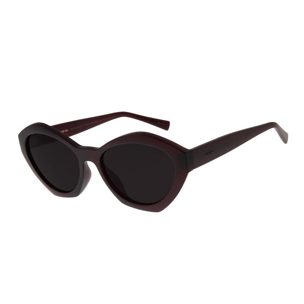 761ac3509 Óculos de Sol Chilli Beans Feminino Shape Diamante Vinho - OC.CL.2723.0117 M