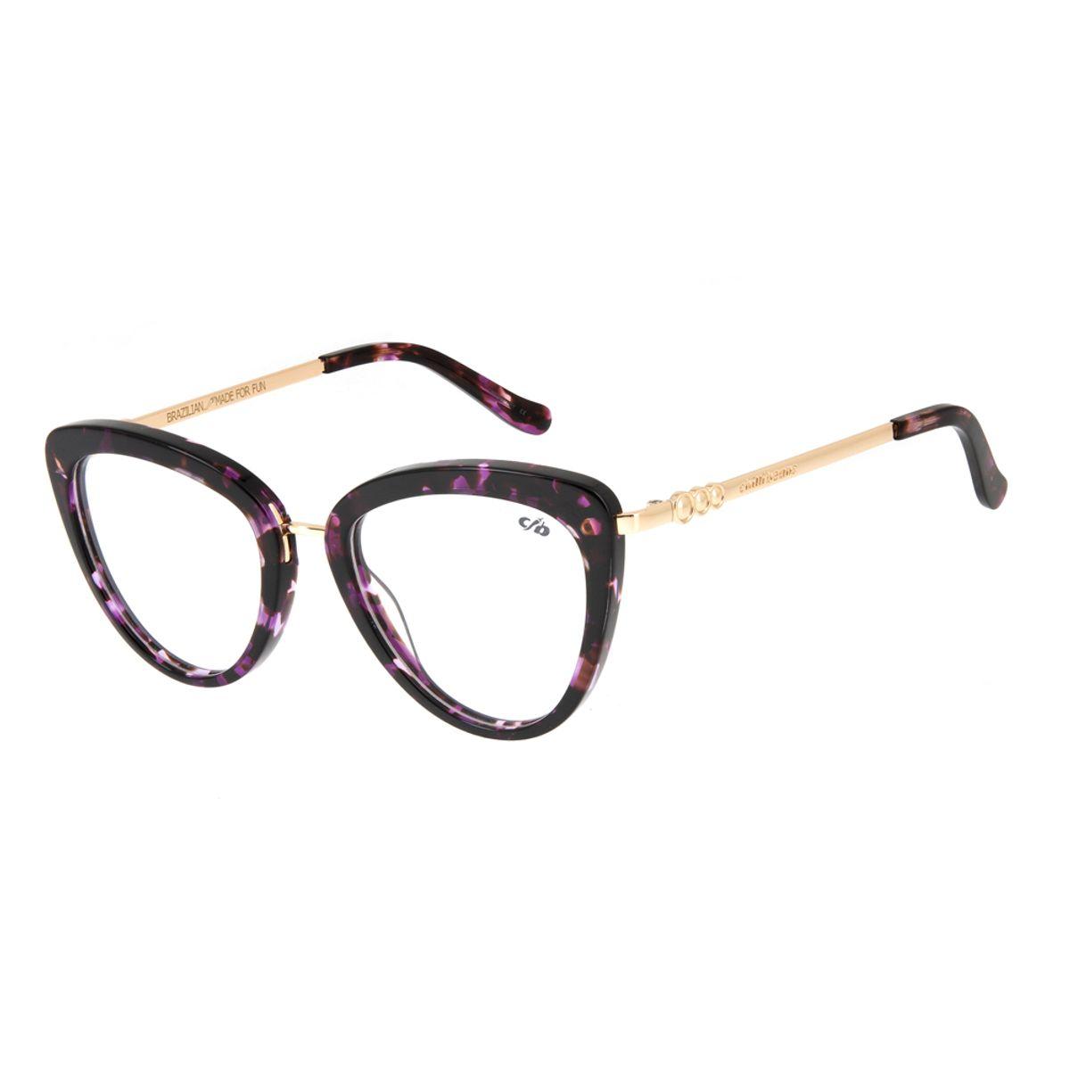 d76e8a64e Armação para Óculos de Grau Feminino Chilli Beans Acetato Cat ...