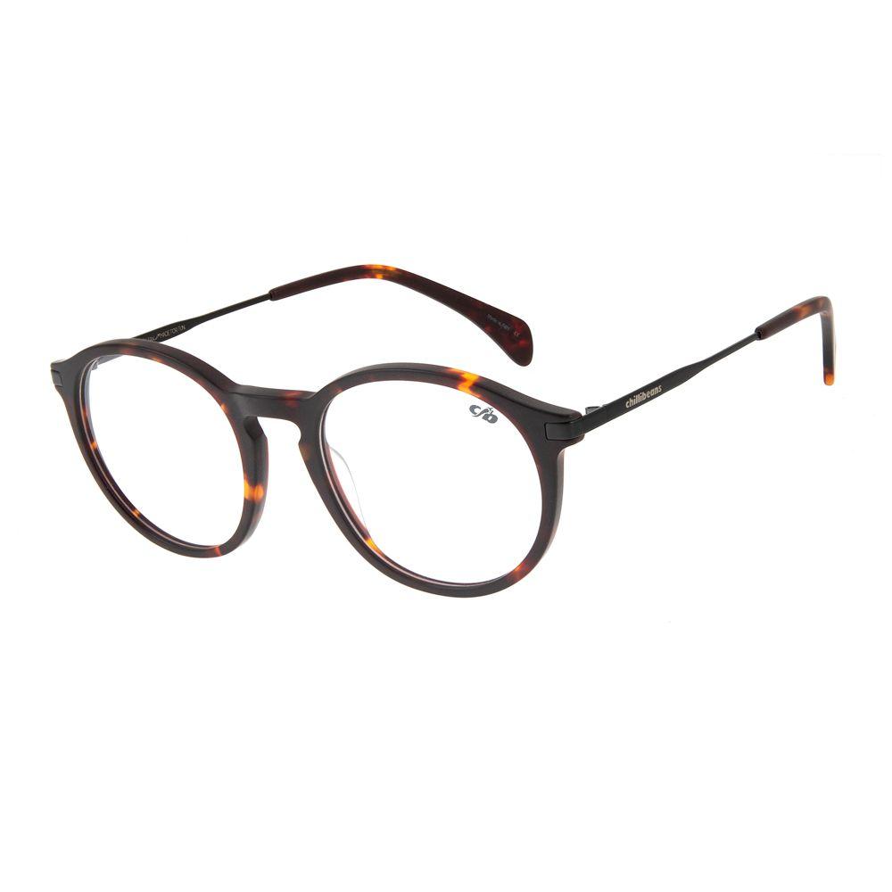 468b4da39 Armação para Óculos de Grau Unissex Chilli Beans Redondo Tartaruga -  LV.AC.0518.0601 M