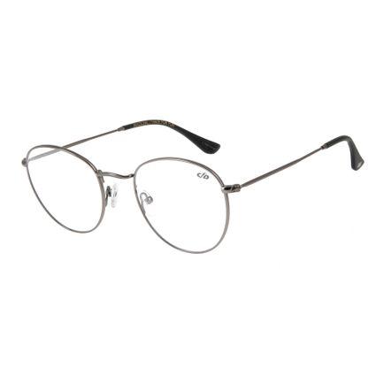 Armação para Óculos de Grau Unissex Chilli Beans Redondo Cinza LV.MT.0304-0404