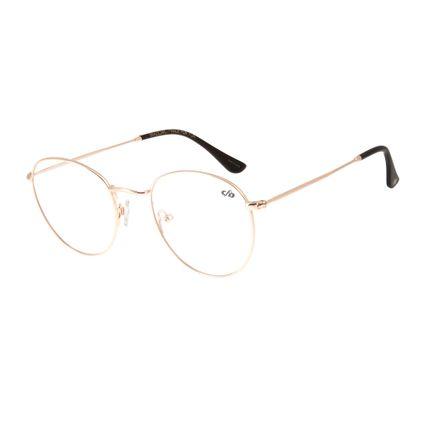 4f0b2453b Armação para Óculos de Grau Unissex Chilli Beans Metal Redondo Dourado R$  339,98 ou 4x de R$ 84,99 Ver detalhes