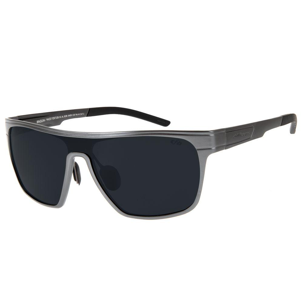 3547622c0 Óculos de Sol Esportivo Masculino Chilli Beans Polarizado Cinza Escuro -  OC.AL.0226.0428 M