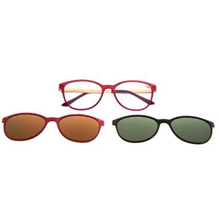 b8dbf2217 Armação para Óculos de Grau Feminino Chilli Beans Multi 2 em 1 Gatinho  Vinho Polarizado R$ 379,98 ou 4x de R$ 94,99 Ver detalhes