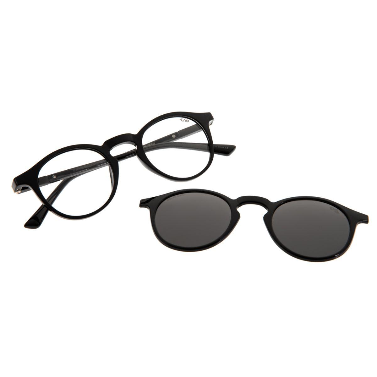 f8f1dd545 Armação para Óculos de Grau Unissex Chilli Beans Multi 2 em 1 Cinza ...