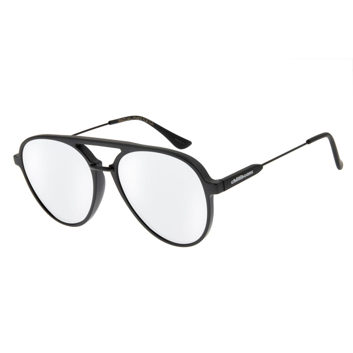 19e880fc0 Óculos de Sol Unissex Chilli Beans New Aviator Espelhado - Chilli Beans