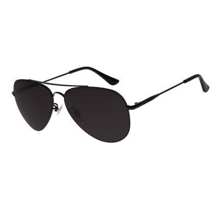 2b4c640be Óculos de Sol Unissex Chilli Beans Aviador Preto R$ 199,98 ou 4x de R$  49,99 Ver detalhes