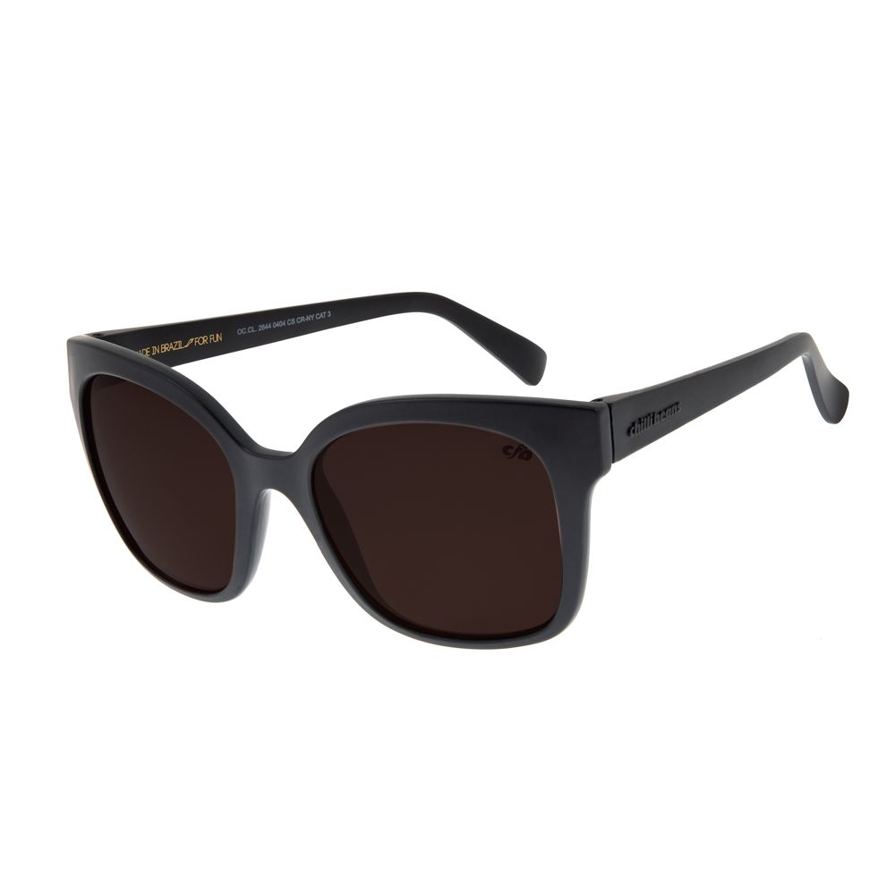 Óculos de Sol Feminino Chilli Beans Quadradinho Básico Cinza OC.CL.2644-0404