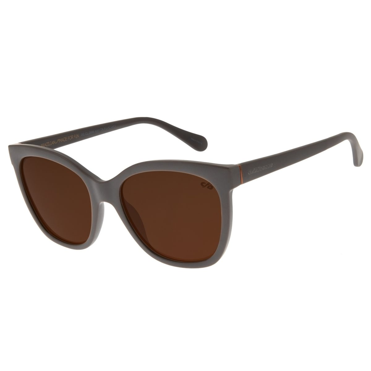f9b7df86f Óculos de Sol Feminino Chilli Beans Clássico Quadrado Marrom Escuro ...