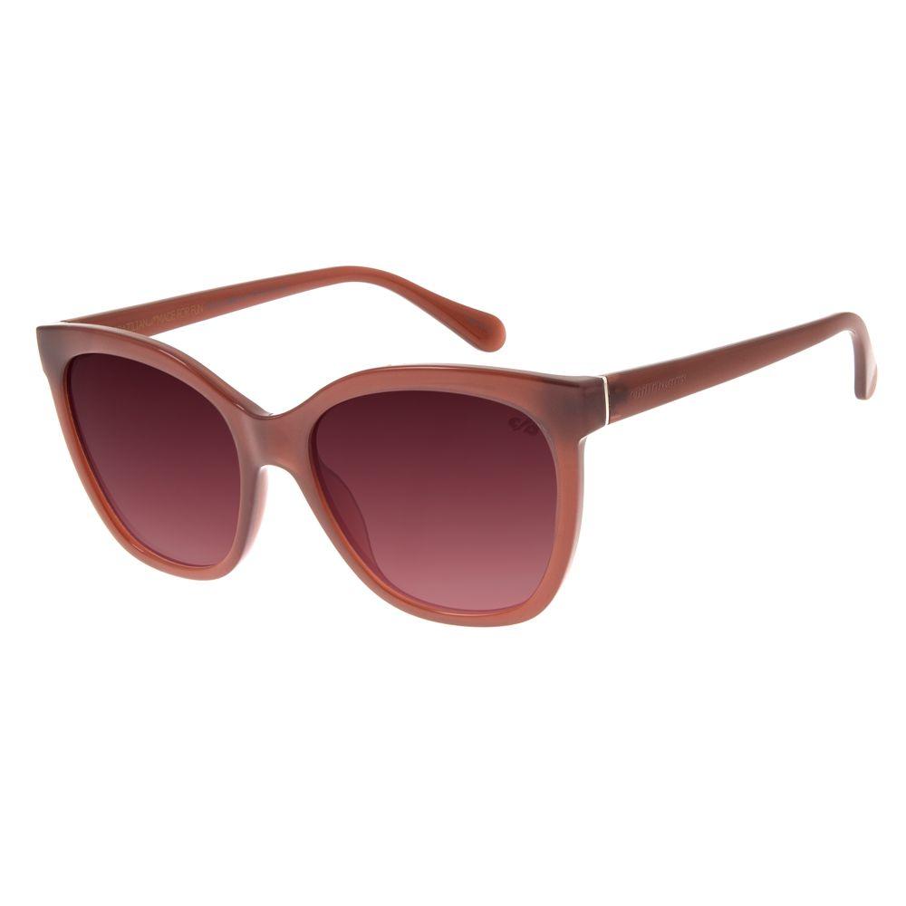 Óculos de Sol Feminino Chilli Beans Clássico Quadrado Vinho OC.CL.2698-2017