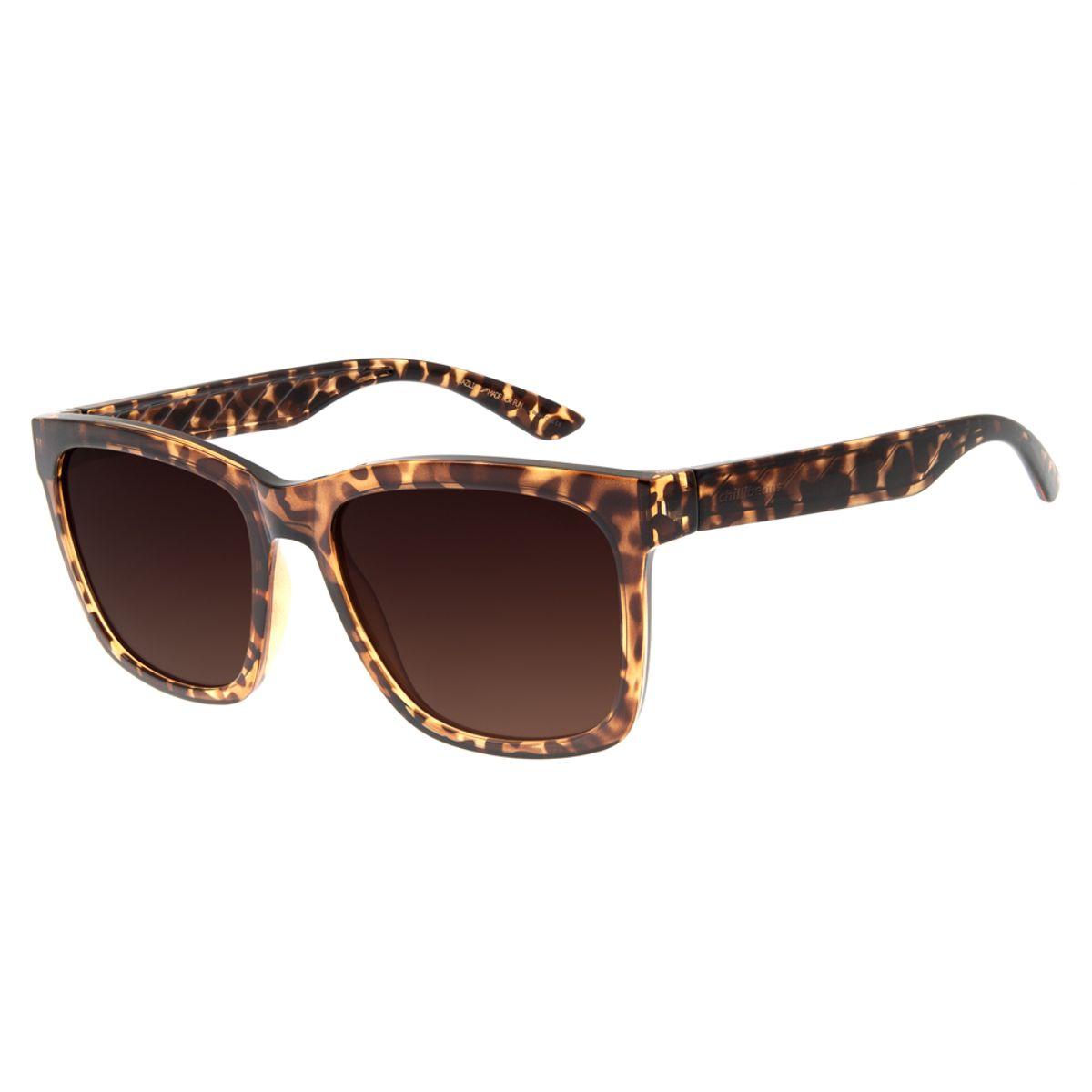 4fcc46aa1 Óculos de Sol Feminino Chilli Beans Hollywood Diva Tartaruga Marrom ...
