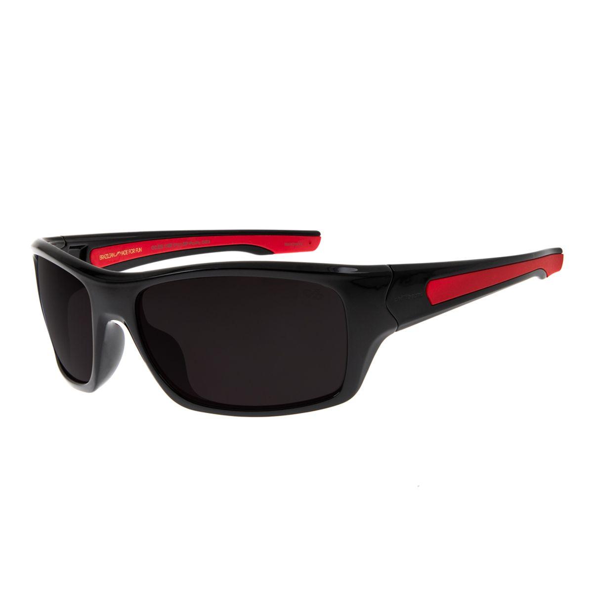 48973de60 Óculos de Sol Masculino Chilli Beans Esportivo Detalhe Vermelho ...