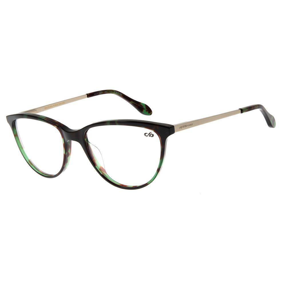 eee636162 Armação para Óculos de Grau Feminino Gatinho Verde Escuro - LV.AC.0519.2607  M